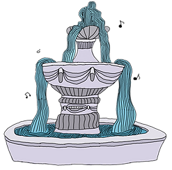 Crooning Fountain from the children's fantasy books, The Bone Grit Historeum