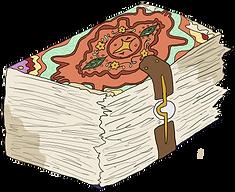 Tome from the children's fantasy books, The Bone Grit Historeum