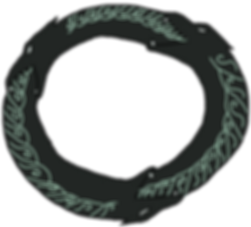 Kakos symbol from the middle grade fantasy books, The Bone Grit Historeum