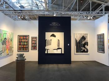 VAI Art Services installed an art fair booth for Rebecca Hossack Art Gallery (London) at Art Market San Francisco
