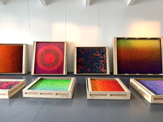 Crating Services for artworks by Zhuang Hong Yi at HOFA Gallery in Los Angeles, CA