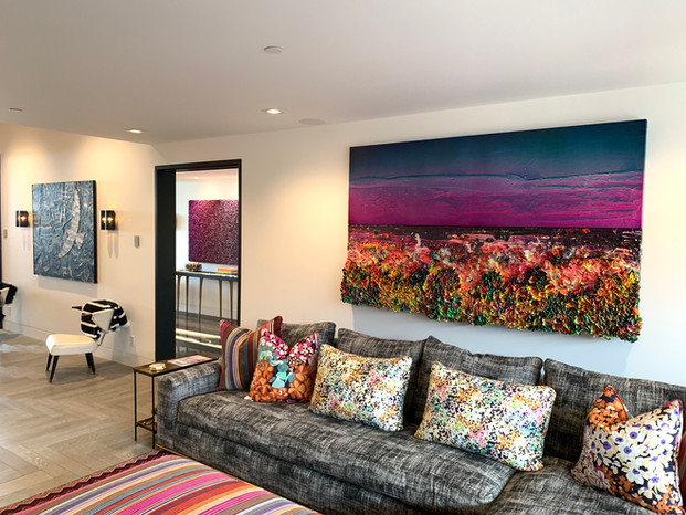 Art Installation at a clients home in Newport Beach, CA