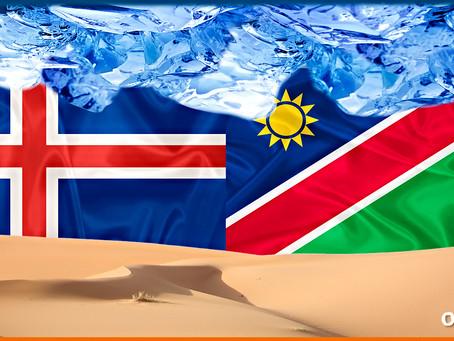 Embarque: Islândia - Destino: Namíbia