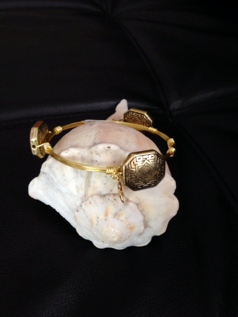 Gold Patterned Stones