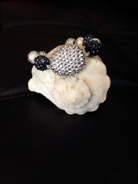 Dark Gray and Silver Bracelet