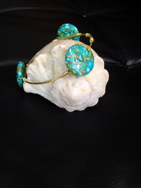 Turquoise Speckled Marble