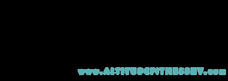 Altitude - A logo words across website H