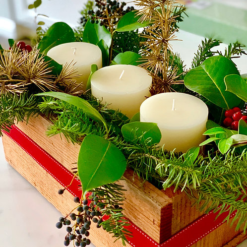 Holiday candle centerpiece