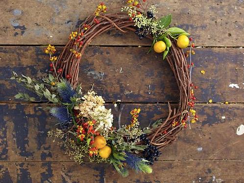 DIY Wreath forming w/ dried or fresh flowers