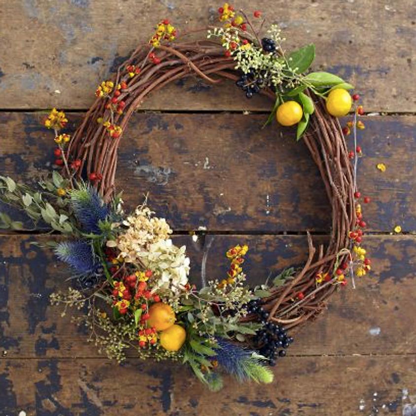 DIY Wreath Form with Dried or Fresh Flowers