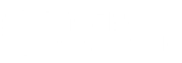 Nebo Crossing 2021 White Logo with name.