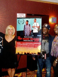 On the red carpet at The Urbanworld Film Festival for The Troy Shawn Welcome Story with Dennis Leonard Johnson, writer/director Michael A. Pinckney and Charlene Quashie