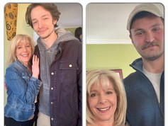 On the set of The Atlantic City Story with actor Mike Faist and writer/director Henry Butash