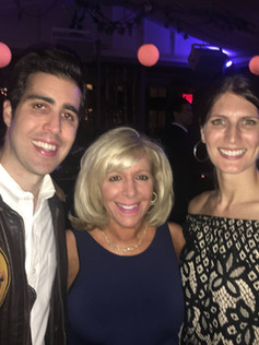 On the red carpet for The Networker launch party with producers Angie Bullaro and Michael Musco