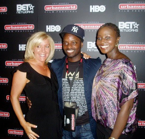 On the red carpet at the Urbanworld Film Festival for The Troy Shawn Welcome Story with writer/director Michael Boogie Pinckey and Charlene Quashie