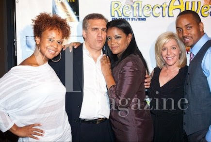 On the red carpet of the 12 Steps To Recovery launch party with K.D. Chalk, Mario Corry, Star Davis and Kaleber Soze