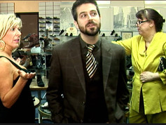Still from Foot Soldiers with Andrew Kimler and 'customer'