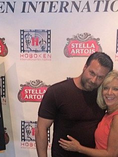 On the red carpet at The Hoboken International Film Festival for The Networker with Steve Stanulis