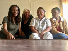 On set for short horror film Aisle 9 with Eboni Boykin, Jaqueline Nwabueze, and J. Pearllinda Vanburen