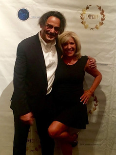 On the red carpet at The New York International Film Festival for American Fango with director Gabriele Altobelli