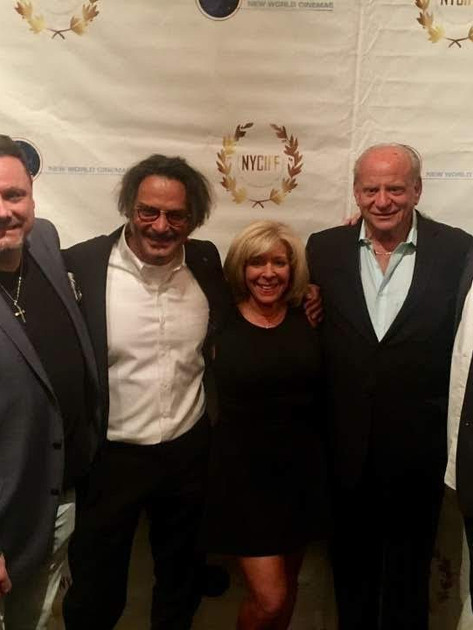 On the red carpet at The New York International Film Festival for American Fango with director Gabriele Altobelli, producer Charles Randolph, Warren Bub and Artie Pasquale