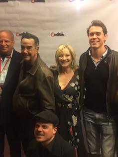 On the red carpet at the Manhattan Film Festival  for American Fango with producer Charles Randolph editor Paolo Buzzetti, Warren Bub, Victor Colicchio, Eve Austin, and Brando Boniver