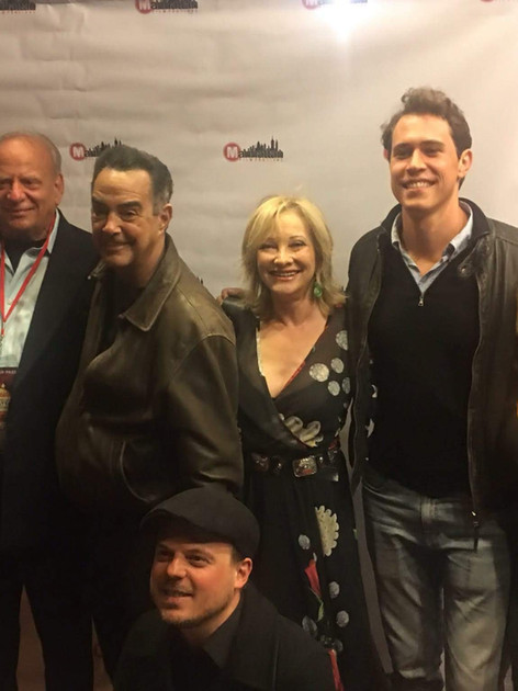 On the red carpet at the Manhattan Film Festival  for American Fango with producer Charles Randolph editor Paolo Buzzetti, Warren Bub, Victor Colicchio, Eve Austin, and Brando Boniver