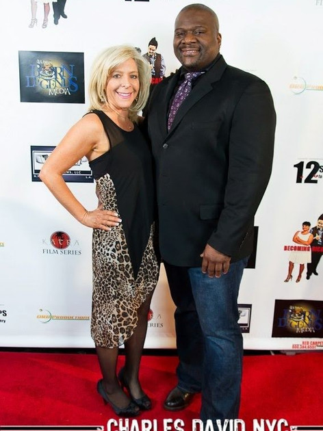 On the red carpet for 12 Steps To Recovery launch party with writer/director Tony Clomax