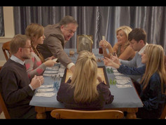 Still of cast of In Loving Memory of Uncle Harold with Mary Beth Albers, David Gibson, Andy Phillips Harris, Mitch Giannunzio and Victoria Zeldin