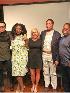 On the red carpet at the Ellington room for the premiere screening of Saving Father with some of the cast, crew, producer and director