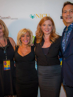 On the red carpet at the Golden Door International Film Festival for The Networker with Casting Director Donna McKenna, Deborah Twiss and Victor Ribaudo