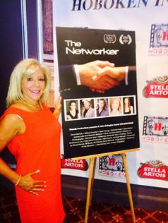 On the red carpet at the Hoboken International Film Festival for The Networker