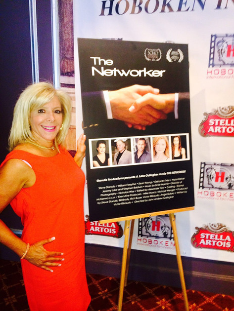 On the red carpet at the Hoboken International Film Festival for The Networker