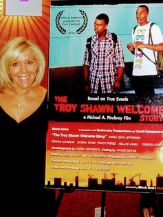 On the red carpet at The Urbanworld Film Festival for The Troy Shawn Welcome Story