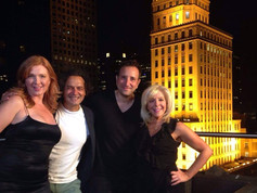 On set for American Fango with Deborah Twiss, director Gabriele Altobelli and DP Antonello Emidi