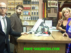 Still shot from Foot Soldiers with Shua Potter, Valentine Aprile and Andrew Kimler