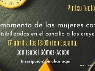 PINTXO TEOLÓGICO CON ISABEL GÓMEZ-ACEBO