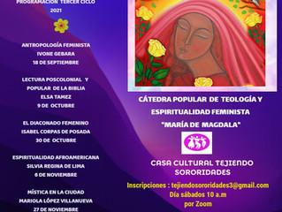 TERCER CICLO DE LA  CÁTEDRA DE TEOLOGÍA Y ESPIRITUALIDAD FEMINISTA MARÍA MAGDALA
