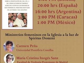 MINISTERIOS FEMENINOS  EN LA IGLESIA A LA LUZ DE  SPIRITUS DOMINI