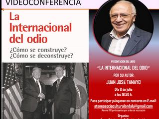"""""""LA INTERNAIONAL DEL ODIO"""" ÚLTIMO LIBRO DE JUAN JOSÉ TAMAYO"""