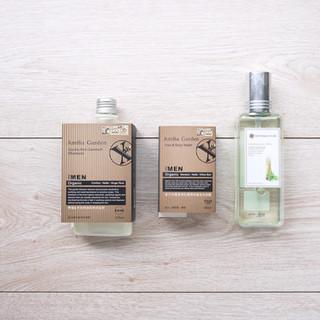 檸檬雪松控油抗屑洗髮精+沐浴露瓶套