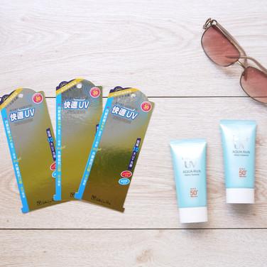 UV高係數防曬乳展示背板