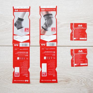 護膝護腳踝商品說明卡+背板