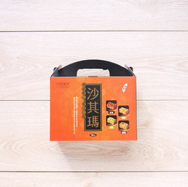 黑糖+雞蛋+海苔+葡萄沙其瑪伴手禮彩盒