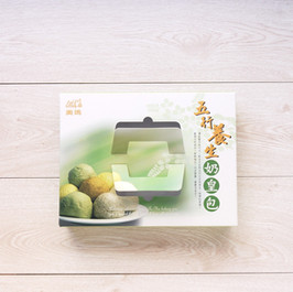 奶酥+抹茶紅豆+全麥芝麻+金沙奶皇+紅麴枸杞奶黃包外帶手提餐盒