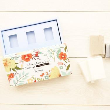 草本手工香皂抽屜式彩盒