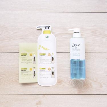 洗髮精+潤絲精+護髮乳瓶身型商品說明卡