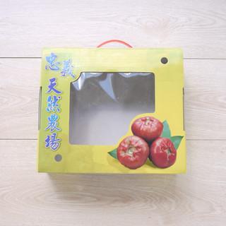 農場蓮霧水果塑膠提把手提彩箱