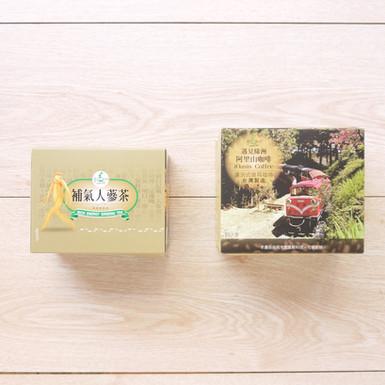 補氣人茶包+濾泡式耳掛咖啡包彩盒