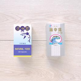 深海鮫魚精油+鮭魚油健康食品包裝盒
